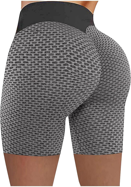 Biker Shorts Women, Womens High Waist Workout Short Scrunch Booty Gym Yoga Pants Butt Lift Running Shorts