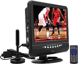 Téléviseur LCD Portable,Tuner numérique DVB-T2,avec Batterie de Recharge,Costume pour..