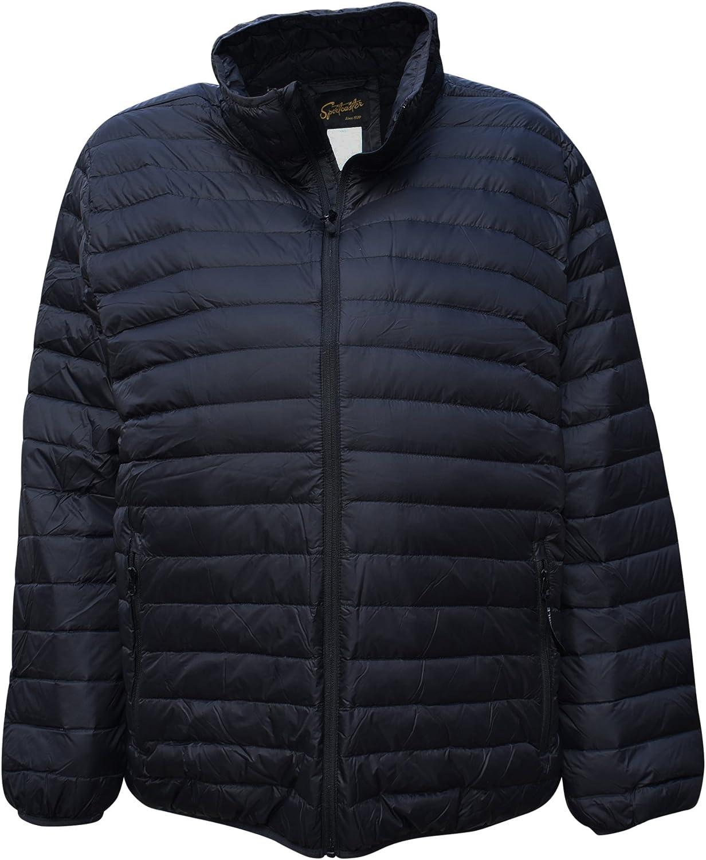 SportCaster Mens Big Sizes Packable Down Jacket