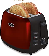 Oster Inspire 2-Slice Toaster, Red/Black (006595-001-000)