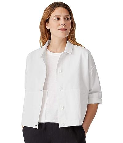Eileen Fisher Classic Collar Jacket in Organic Cotton Hemp Stretch