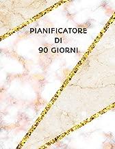 Pianificatore di 90 Giorni: Mosaico Marmo Beige Rosa e Oro   Agenda di 3 Mesi con Calendario 2019   Organizzatore di Programmi Mensili   12 Settimane (Italian Edition)