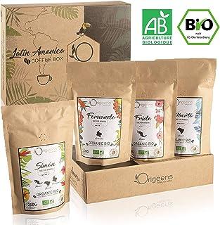 ☘️ Cafe En Grano Ecólogico | Granos de Cafe Arabica, Tostado Artesanal | Caja Regalo | 4x250g