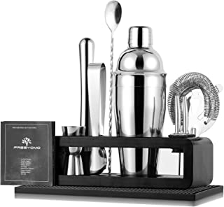 Bartender Kit with Stylish Bamboo Stand, 10 Piece...