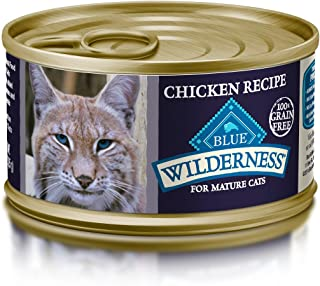 Blue Buffalo Wilderness High Protein Grain Free, Natural Mature Pate Wet Cat Food