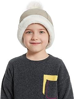 قبعة سانلايكيت للأطفال من الفراء الصناعي للأولاد والبنات كوساك روسي، قبعة مستديرة لشتاء تزلج الثلج