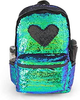 """Magic Reversible Sequin Backpack,Sparkly Lightweight Back Pack for Girls and Boys, 17""""(H)12¼""""(L)4¾""""(W)"""