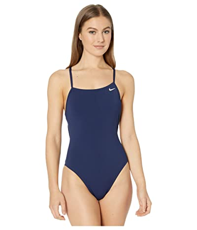 Nike Hydrastrong Lace-Up Tie Back One-Piece (Midnight Navy) Women