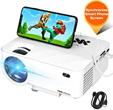 Mini Projector, TOPVISION Projector with Synchronize Smart Phone Screen, Upgrade to..