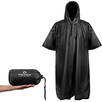 Arcturus Lightweight Ripstop Nylon Poncho with Adjustable Hood