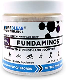 Sponsored Ad - FUNDAMINOS Amino Acid Blend, Essential Amino Acids Powder, Plant-Based Workout Supplement Powder for Men an...
