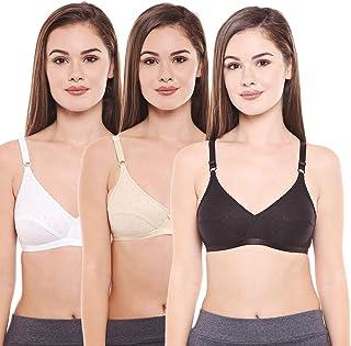 e7f730661cc BODYCARE Pack of 3 Perfect Coverage Bra in Black-Skin-White Color - E1507BSW