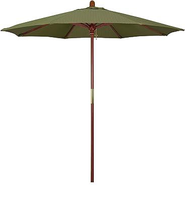 California Umbrella MARE758-FD11 7.5' Round Hardwood Frame Market Umbrella, Olefin Terrace Fern