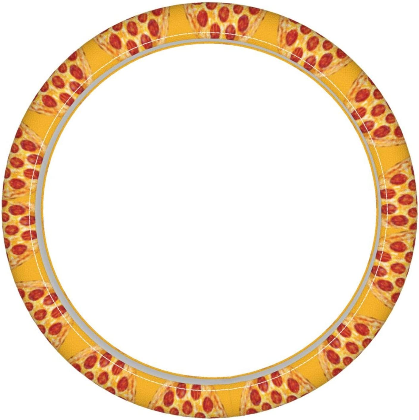 Zeyustge Pizza Microfiber Leather Cover OFFicial shop Breathabl 2021 spring and summer new Steering Wheel
