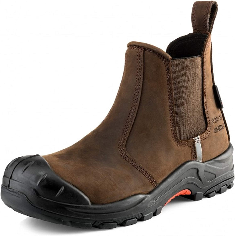 NKZ101BR Dark Safety Dealer Boot Buckler Brown nsohux2224-New Shoes