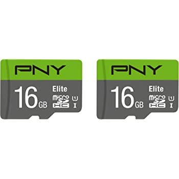 PNY 16GB Elite Class 10 U1 MicroSDHC Flash Memory Card 2-Pack