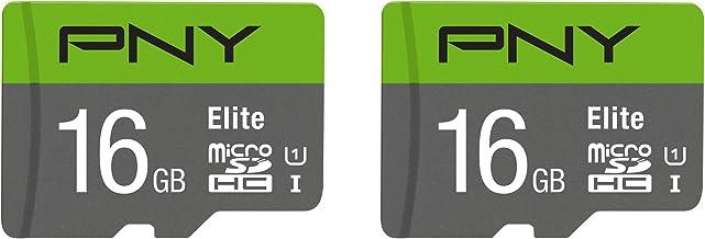 PNY 16GB Elite Class 10 U1 MicroSDHC Flash Memory Card 2-Pack