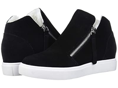 Steve Madden Caliber-F Wedge Sneaker (Black Suede) Women