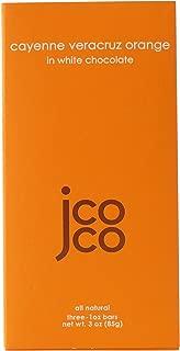 Jcoco Non GMO Chocolate Bars: Pack of 6, 3 ounce Gluten-free Chocolate Bars (Cayenne Veracruz Orange)