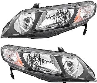 06-11 Honda Civic Sedan Pair of Headlights Headlamps w/Clear Park Lens 33151SNCA01 33101SNCA01