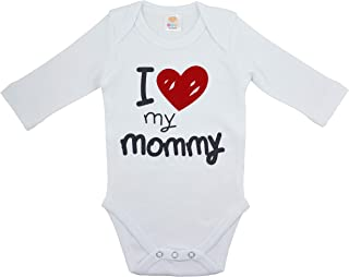 OZYOL I Love My Mommy - Body de manga larga para bebé (100% algodón, 3-24 meses)