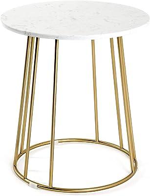 Haku Möbel Table d'appoint, Tube en Acier, 40 x 40 x 50 cm