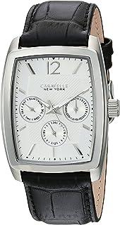 [ブローバ] Bulova 腕時計 Men's Quartz Stainless Steel and Leather Casual Watch, Color:Black アナログ クォーツ 43C116 メンズ 【並行輸入品】