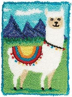 XLLHY DIY Kits de Crochet de Verrouillage Artisanat à la Main Broderie Tapis de Tapisserie Création de Tapis et Canvas, Mo...