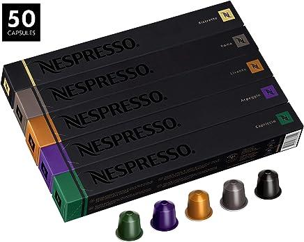 Nespresso OriginalLine Capsules, Variety Pack Assortment, Includes 50 Nespresso Capsules - 10 Roma, 10 Capriccio, 10 Livanto, 10 Arpeggio and 10 Ristretto