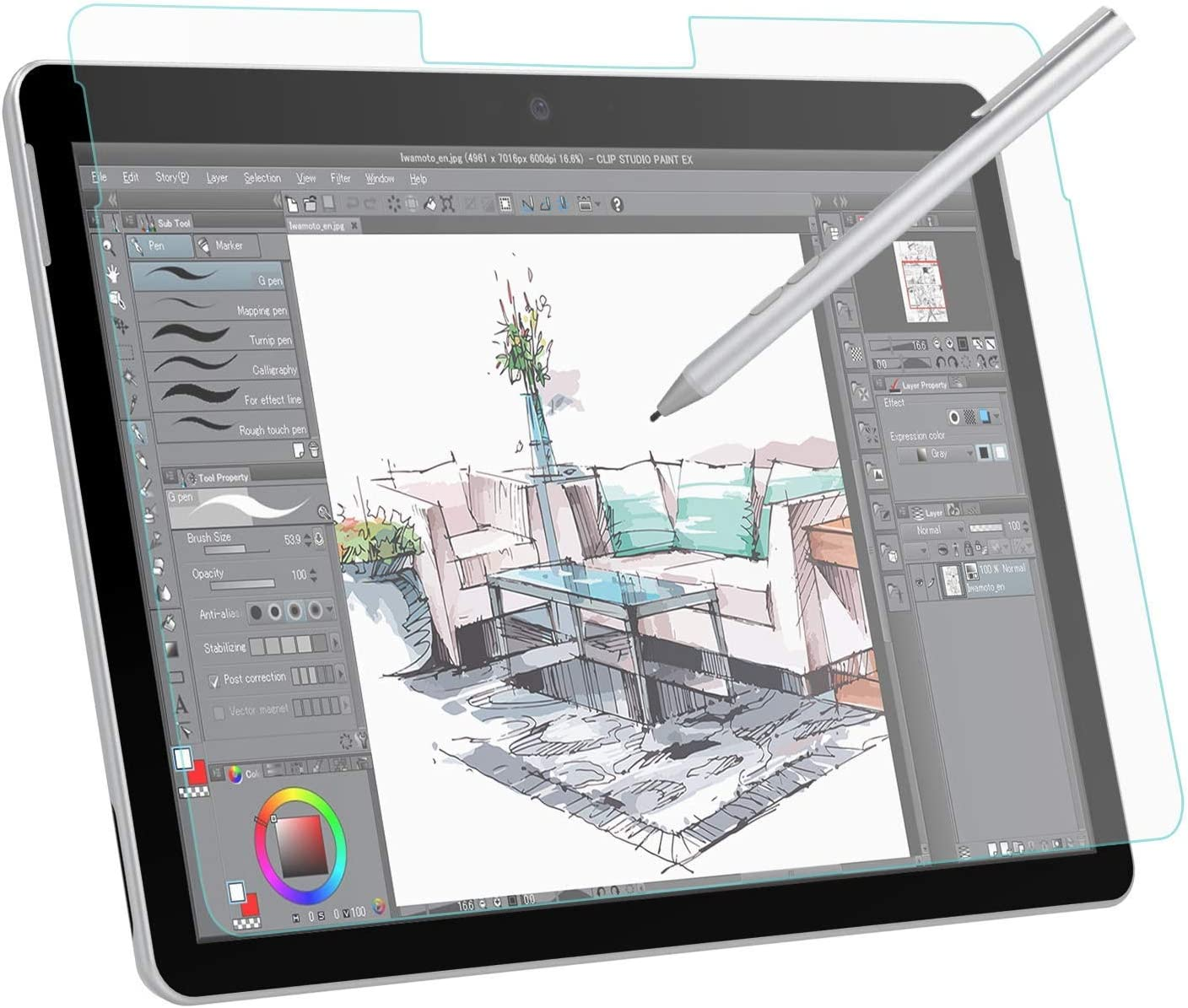 Fulson Paper-Like Screen Protector (Not Glass) for Ipad Pro 2018