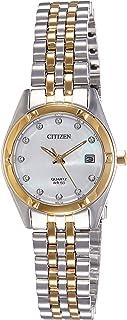 Citizen WoMen's White Dial Stainless Steel Band Watch - EU6054-58D