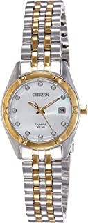 Citizen WoMen's White Dial Stainless Steel Band Watch - EU6054-58D