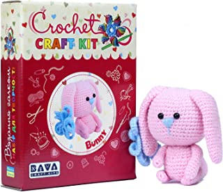 Crochet Craft Kit Bunny, Arts and Crafts for Teens and Adults, All Materials Included, Step by Step Illustrated Instructio...