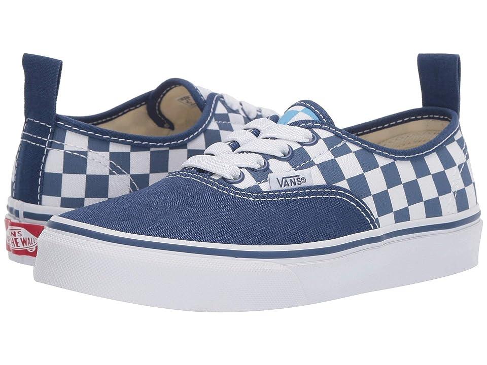 Vans Kids Authentic Elastic Lace (Little Kid/Big Kid) ((Checkerboard) True Navy/Bonnie Blue) Boys Shoes