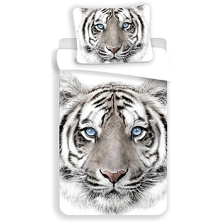 Tigre Blanc - Parure de lit - Housse de Couette Coton