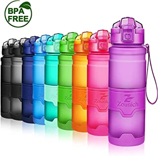 Premium Sports Water Bottle 32 oz/1 liter, 24 oz, 16 oz, 14 oz, BPA Free Tritan for Kids, Reusable & Leak proof & Measured, Plastic Drink Bottle, for Bike, Running, Gym, Fitness, Cycling (A style)
