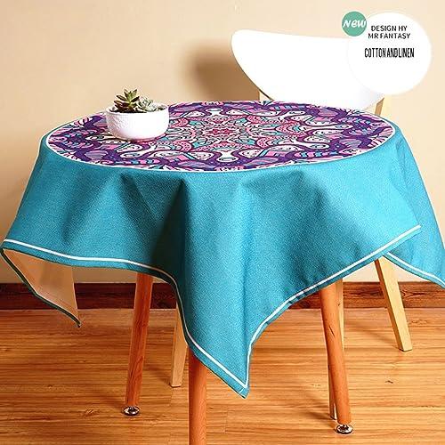Küchenwäsche Leinen Tischdecke, Literatur und Kunst Runde Tischdecke Square Esstisch Couchtisch Schreibtisch Tischdecke ( Farbe   3  , Größe   140200CM )
