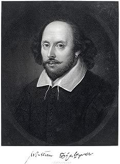 William Shakespeare Engraving 1870 Art Print Laminated Dry Erase Sign Poster 24x36