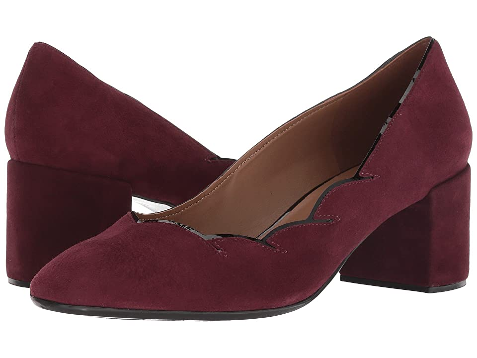 French Sole Couplet Heel (Wine Suede) Women