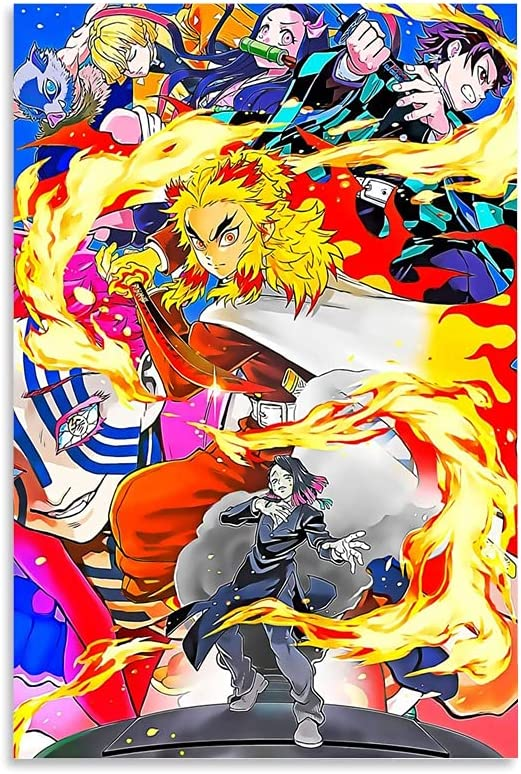 Anime Poster Demon Oakland Mall Slayer Canvas Wall and High quality new Picture Art