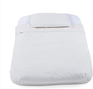 Chicco Juego de sábanas 4 piezas ajustable para mini cuna Chicco, sábana bajera + edredón + funda edredón + funda almohada, 50 x 83 cm, color gris rallas (Grey Stripes)