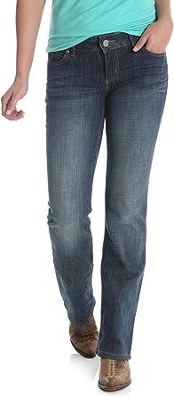 Wrangler Womens 09MWZAH Mid Rise Boot Cut Jean Jeans