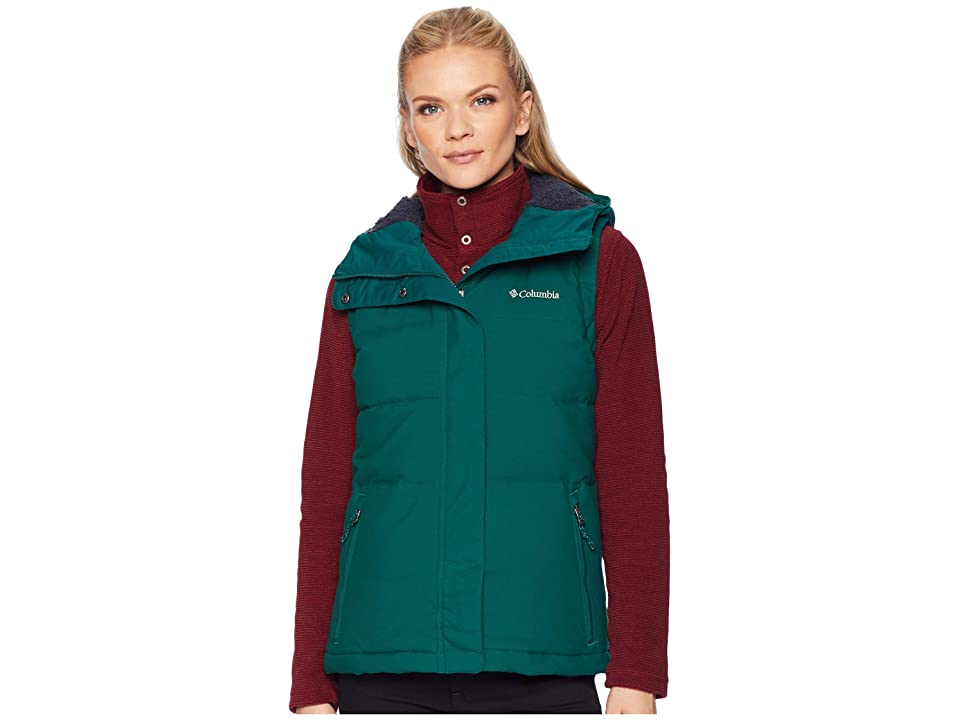 Columbia Winter Challengertm Hooded Vest (Dark Ivy/Geyser) Women