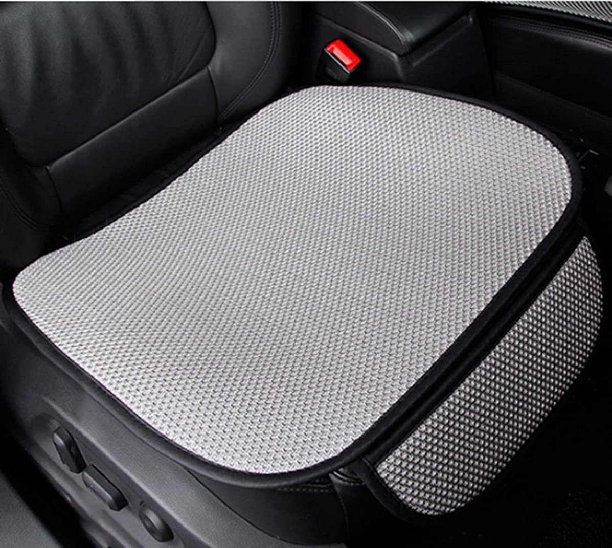 A.B Crew Universal Antiskid Car Seat Protect Cover Pad Mat Office Chair Mat Four Seasons General(Grey,One Front Seat Mat)