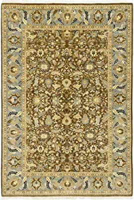 """Solo Rugs Hand Knotted Area Rug, M1573-271, Wool, Brown, 6'1"""" x 9'0"""""""