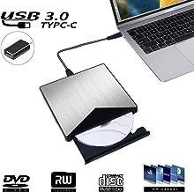 External CD/DVD Drive for Laptop, DIGDAN USB 3.0 Slim Portable CD DVD Burner Reader Writer, High Speed Data Transfer Optical Drive Comaptible with Windows 10/8/7/XP/Vista, Linux, Mac OS for PC Desktop