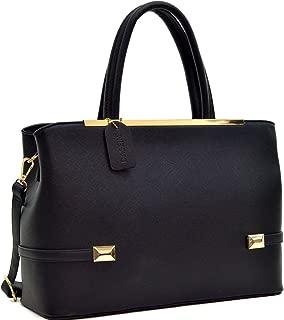 Women's Fashion Top Handle Handbags Hinged Tote Satchel Purse Work Shoulder Bag