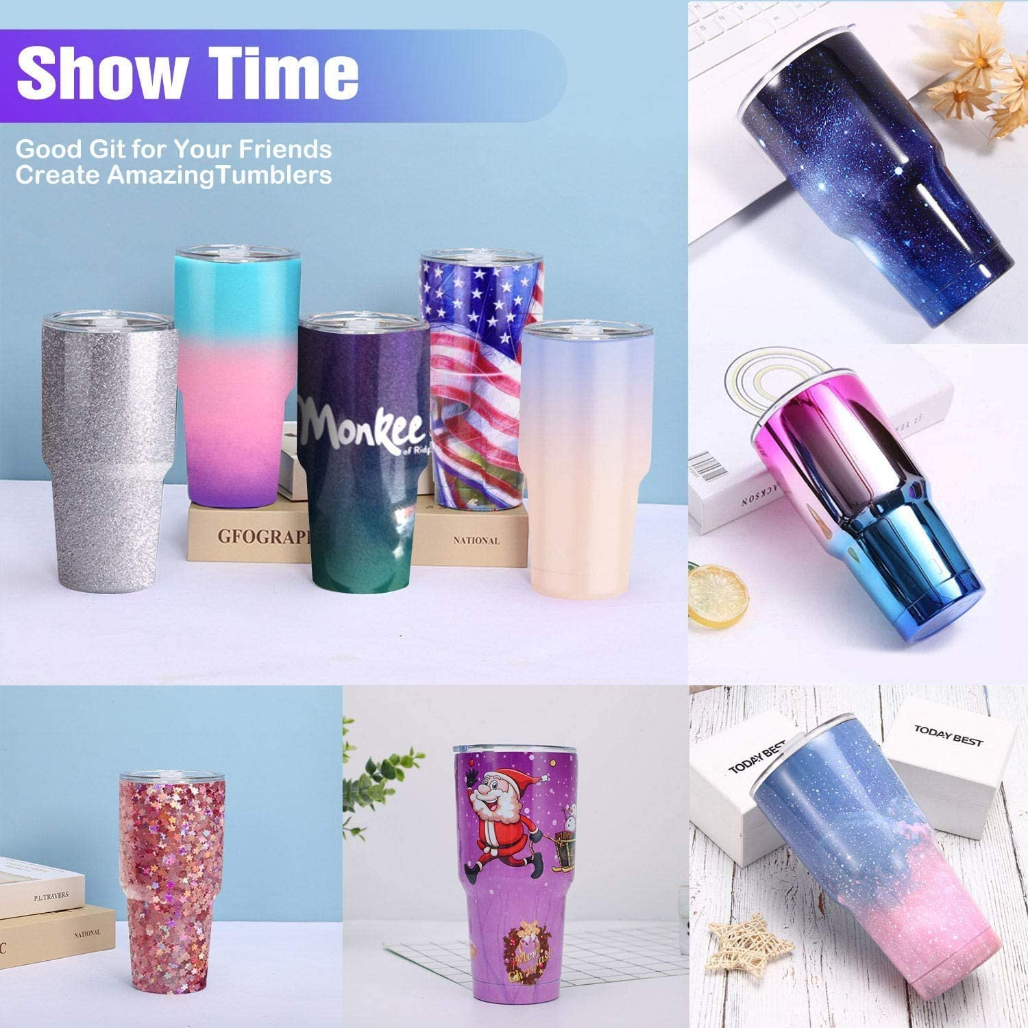 LFSUM Double Cup Turner for Crafts Tumbler Cup Spinner Machine Kit,Turner DIY Glitter Epoxy Tumblers Purple