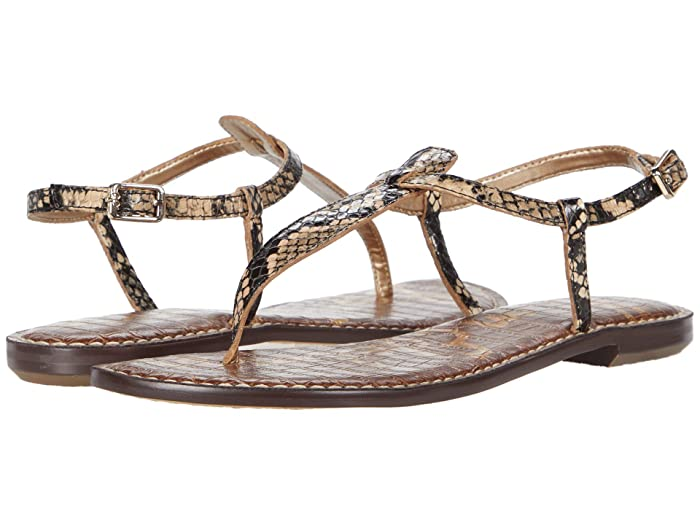 Sam Edelman  Gigi (Pale Blush/Desert Multi/Ecru Exotic Snake Print Leather) Womens Sandals