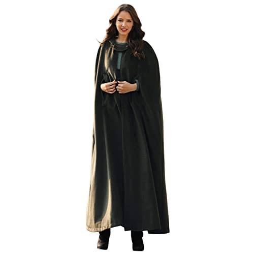 8fd1943b5d53d Womens Hooded Maxi Coat Trench Robe Cloak Sleeveless Cosplay Costume Long  Hoodie Cape